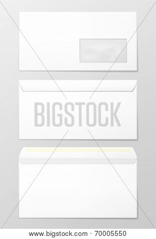 Blank envelopes.