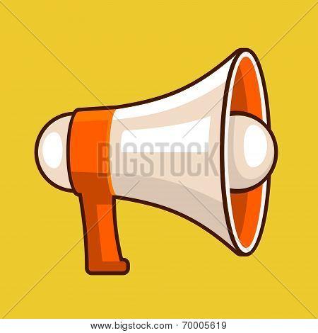 Loudspeaker Icon in Flat Style. Vector