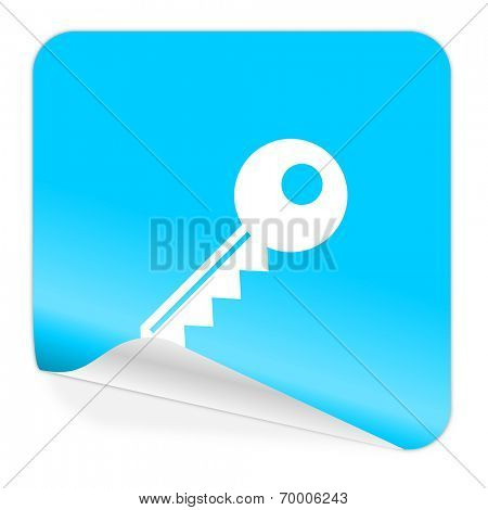 key blue sticker icon