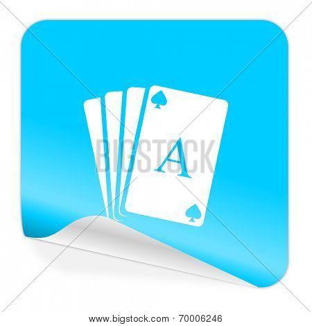 card blue sticker icon