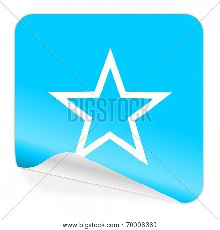star blue sticker icon