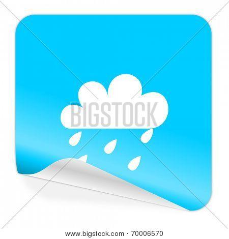 rain blue sticker icon