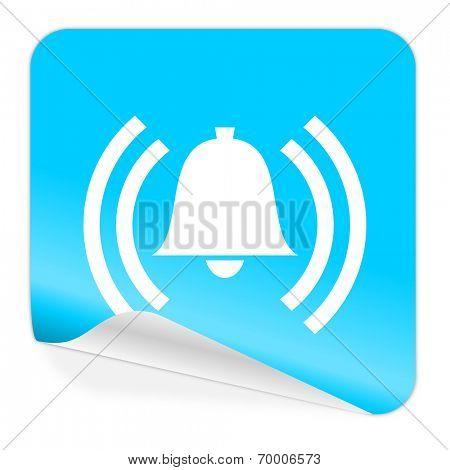 alarm blue sticker icon