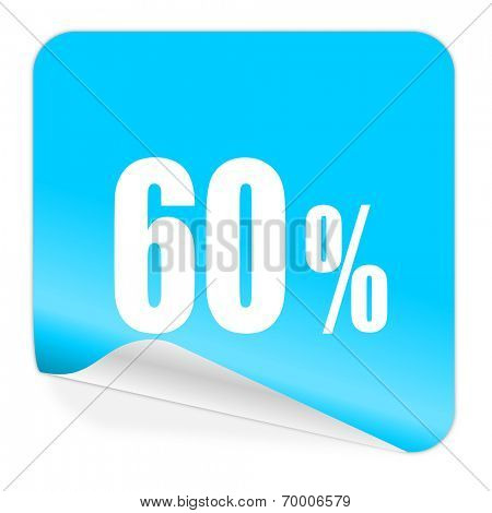 60 percent blue sticker icon