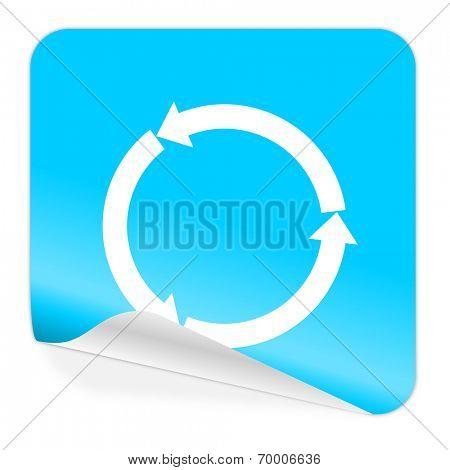 refresh blue sticker icon