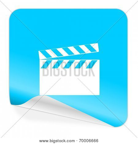 video blue sticker icon