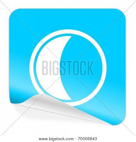 moon blue sticker icon