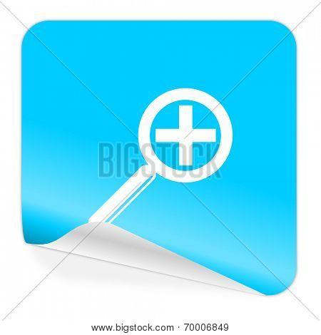 lens blue sticker icon
