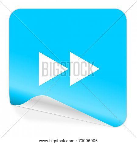 rewind blue sticker icon