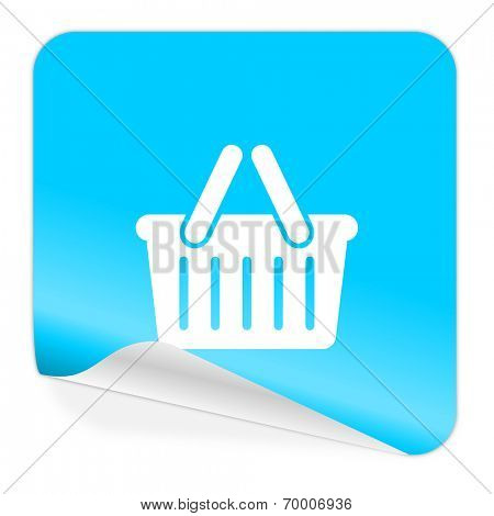 cart blue sticker icon