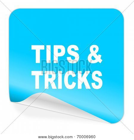 tips tricks blue sticker icon