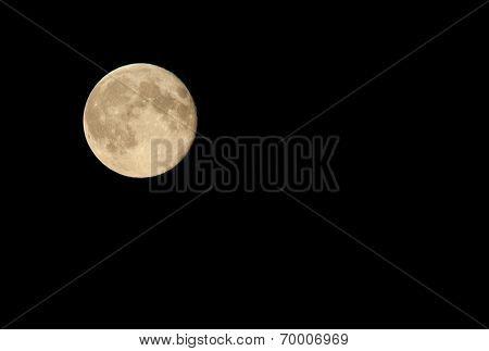 Full moon at night black sky