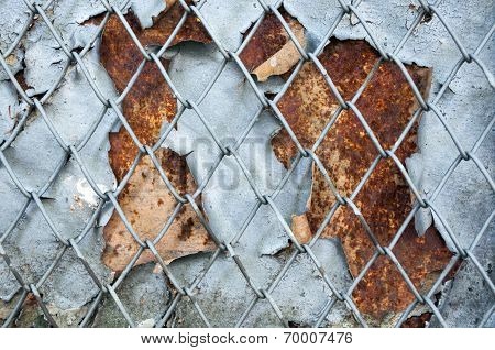 Rusty Iron Screen Background