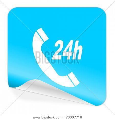 service blue sticker icon