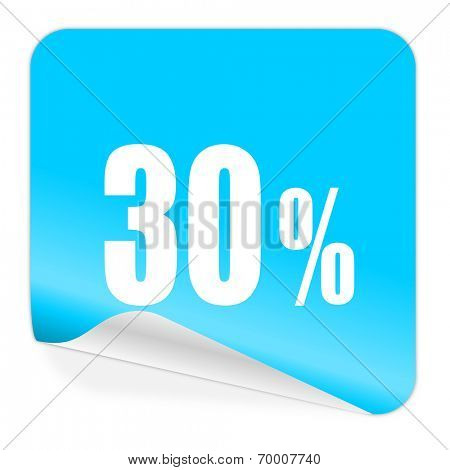 30 percent blue sticker icon