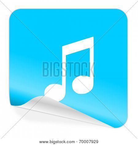 music blue sticker icon