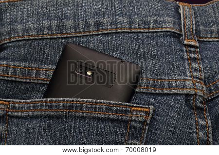 Smartphone In The Back Pocket Of Jeans