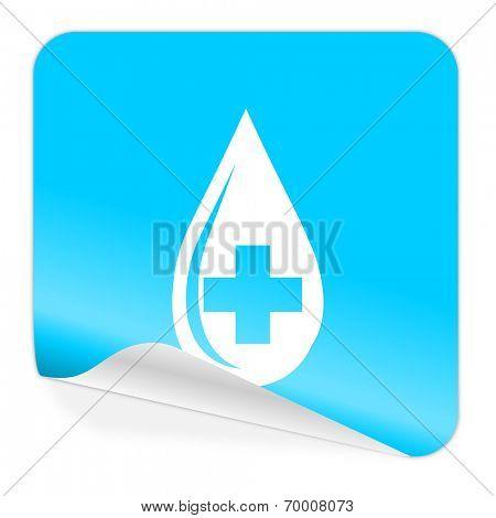 blood blue sticker icon