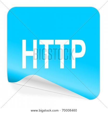 http blue sticker icon