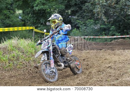 Motocross In Valdesoto, Asturias, Spain..
