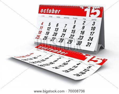 October 2015 - Calendar