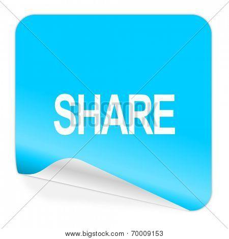 share blue sticker icon