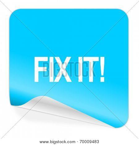 fix it blue sticker icon