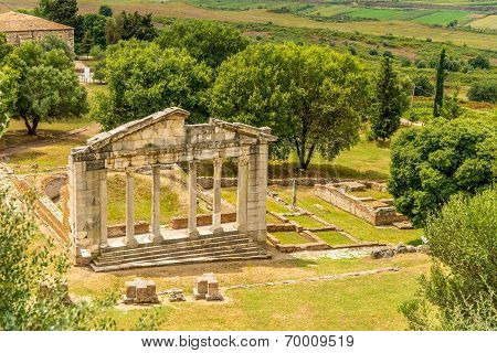 Temple Ruins In Apollonia.