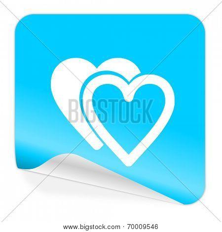love blue sticker icon