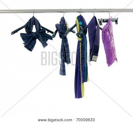 Fashion colorful female Scarf on hangers