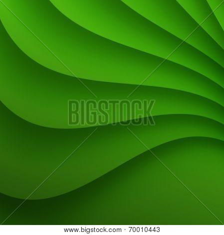 Green Wavy background.