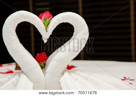Swan Towel Origami