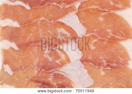 Slices of Delicious Prosciutto.