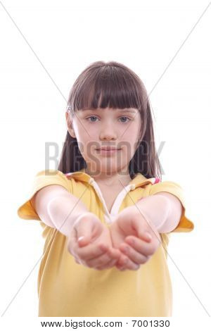 The Child Stretching Hands