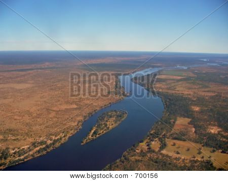 Sky High View Of River