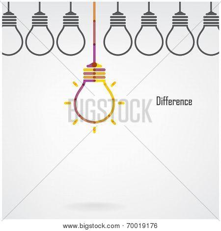 Creative Light Bulb Difference Idea Concept