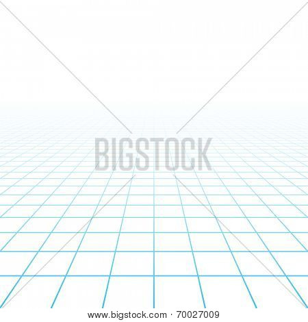 Perspective grid background. Vector.