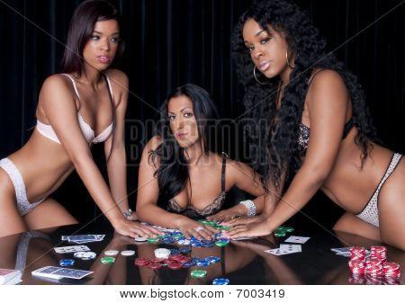 Girls Playing Poker