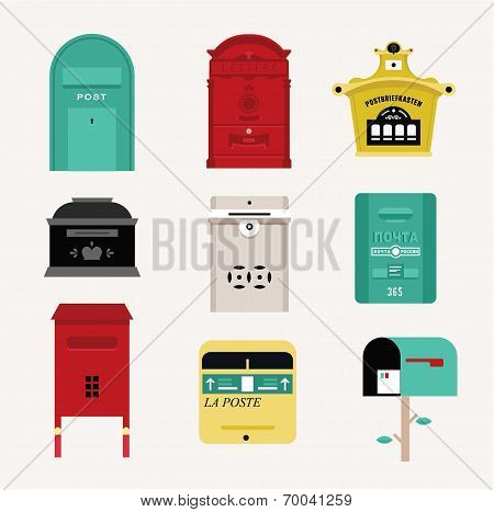 Vector mail boxes
