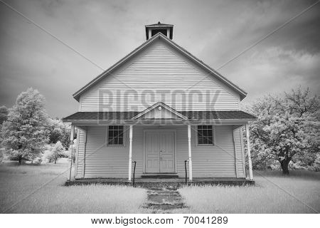 Old School House In Infrared