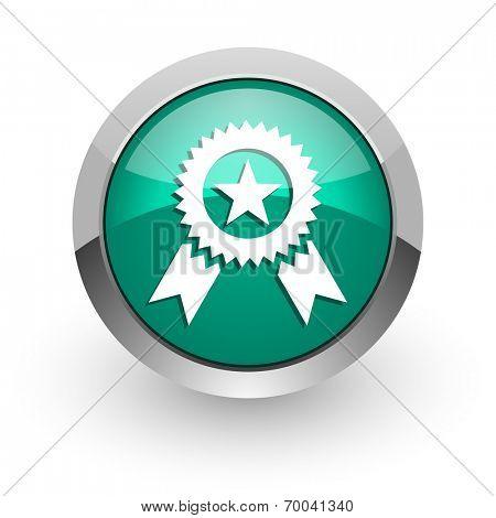 award green glossy web icon