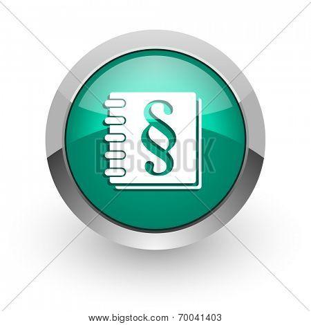 law green glossy web icon