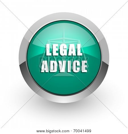 legal advice green glossy web icon