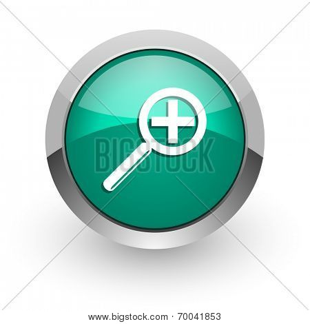 lens green glossy web icon