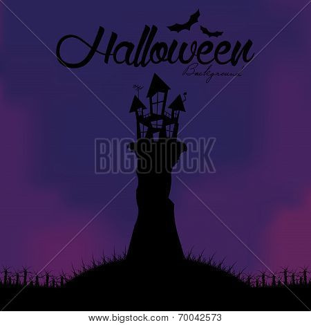 Vector Cartoon Halloween Background Editable With Space For Text