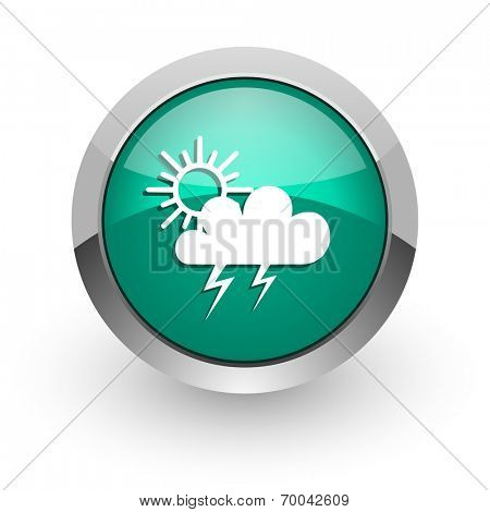storm green glossy web icon