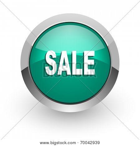 sale green glossy web icon