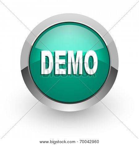 demo green glossy web icon