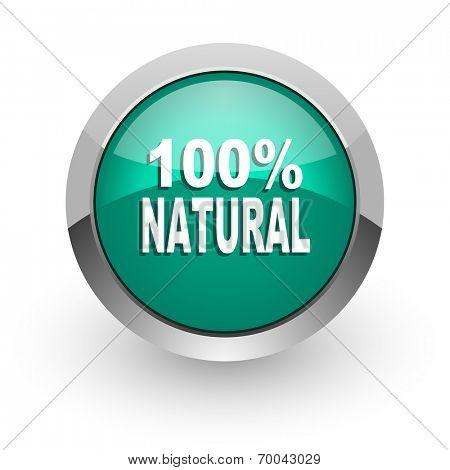natural green glossy web icon