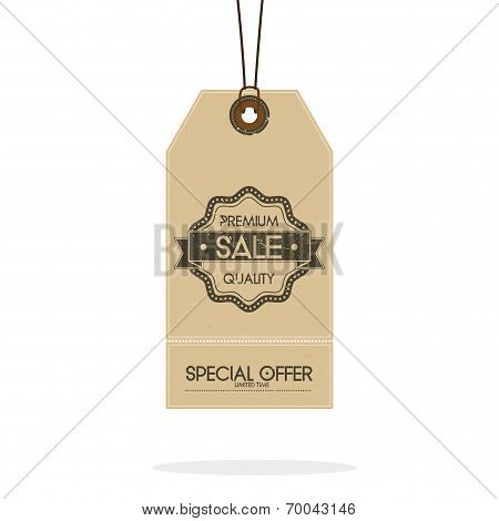 Vector Set Of Vintage Style Sale Tags Design Isolated